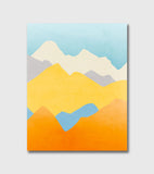 colorful mountains wall art decor by eve sand