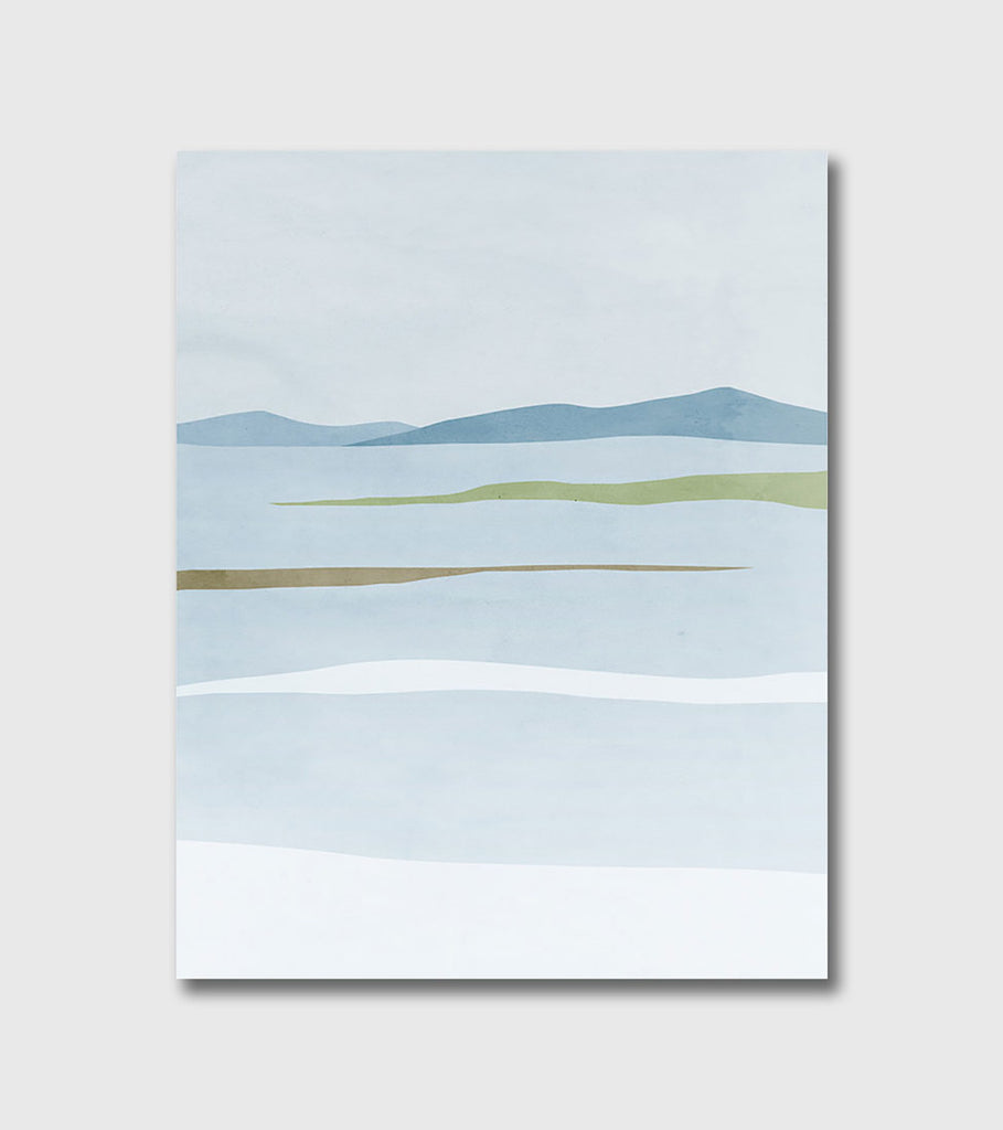 white winter abstract landscape by eve sand