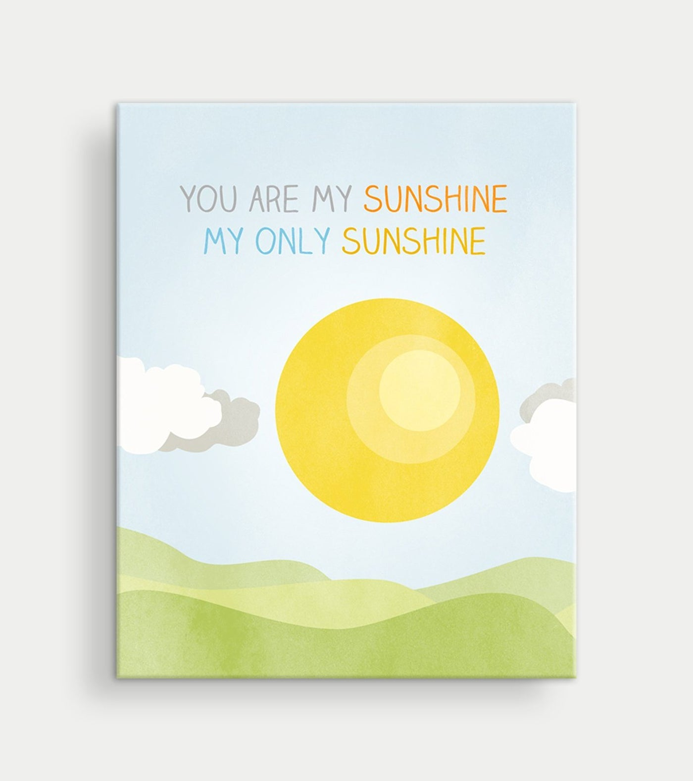 you are my sunshine nursery canvas art