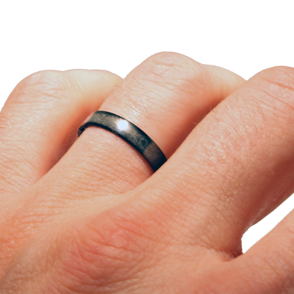 NexRingTM 100 Carbon Fiber Wedding Band Rings