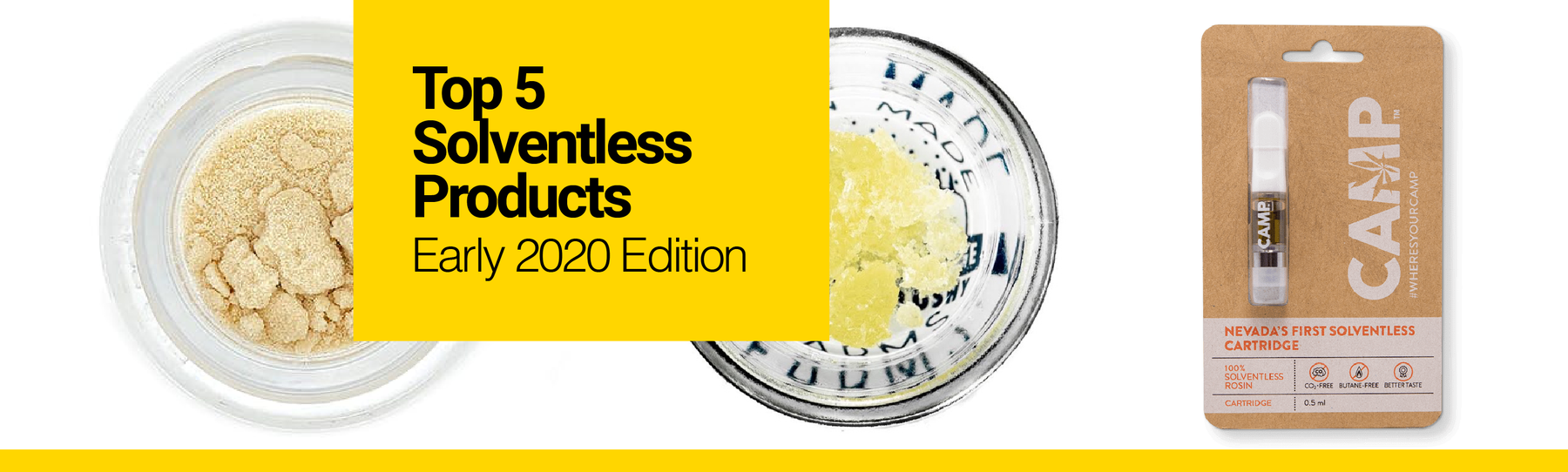 Top 5 Solventless Products We're Excited About (Early 2020 Edition)