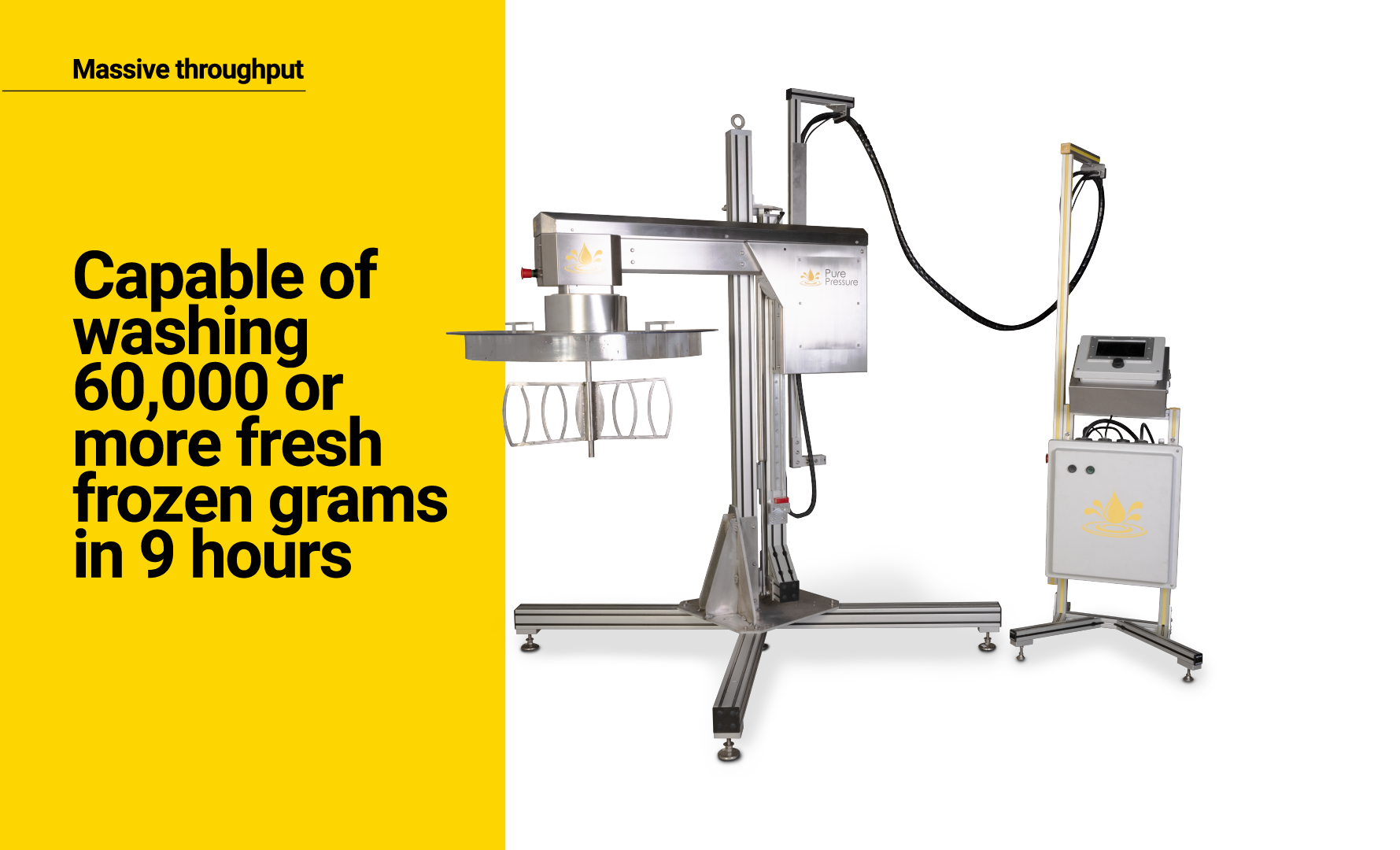 PurePressure Axis Trichome Separator Wash 60,000 grams or more of Fresh Frozen in 9 hours