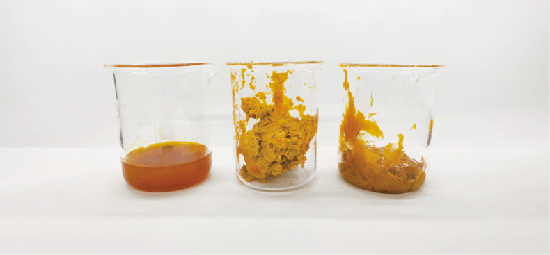 CO2 Cannabis Extracts in beakers