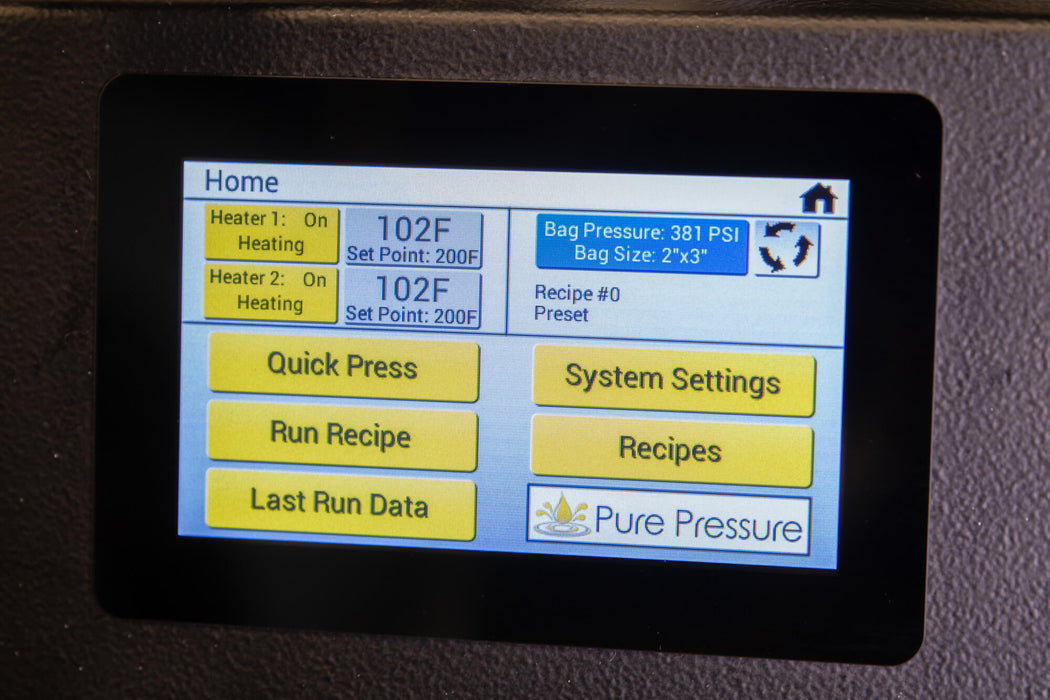 Rosin Pressware LCD Screen Rosin Technology