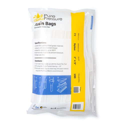 PurePressure USA Made Rosin Filtration Bags FDA Approved Rosin Filters