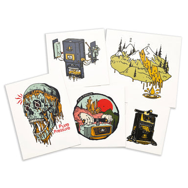 PurePressure Rosin Sticker Pack