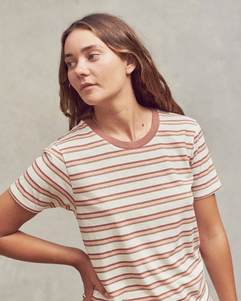 Sunset Striped Hemp Tee