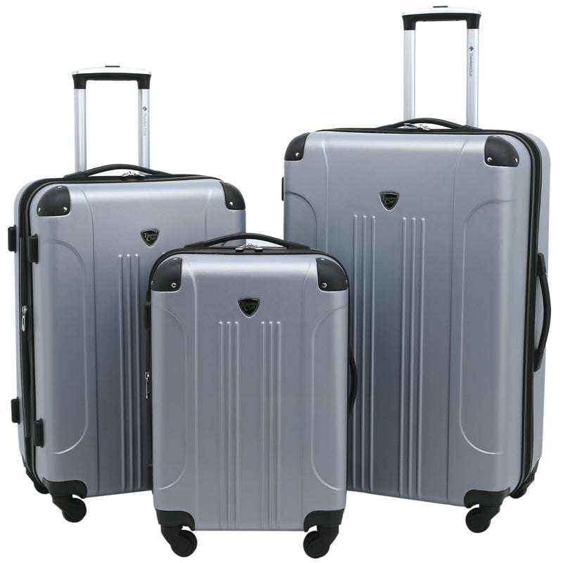 Travelers Club 3 Piece Chicago Expandable Hardside Luggage Set