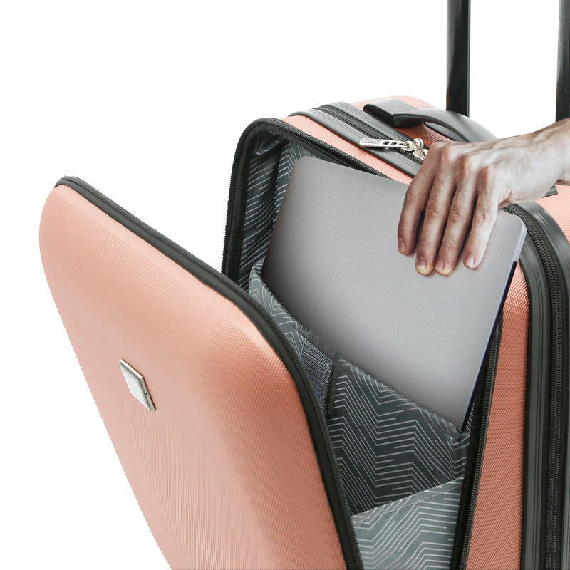 Alise Collection, 20 in. Rolling Hardside Carry-On with Laptop Section