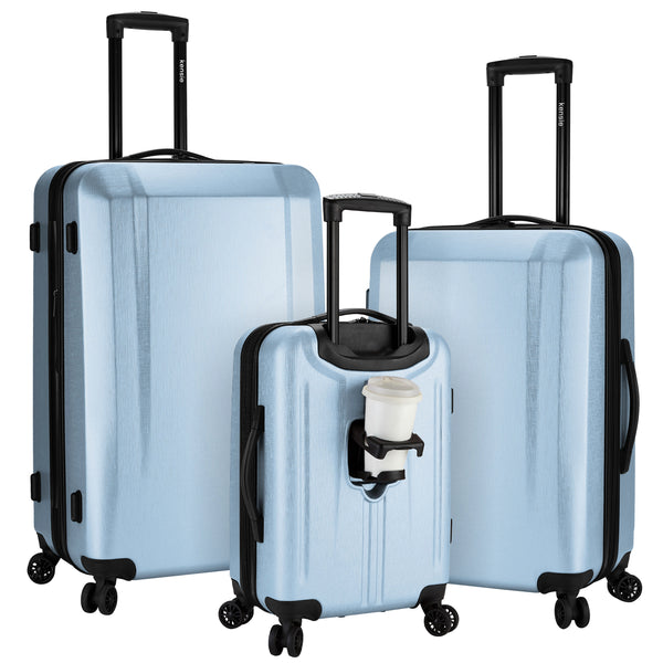 kensie 3-Piece 3-in-1 Hardside Luggage Collection