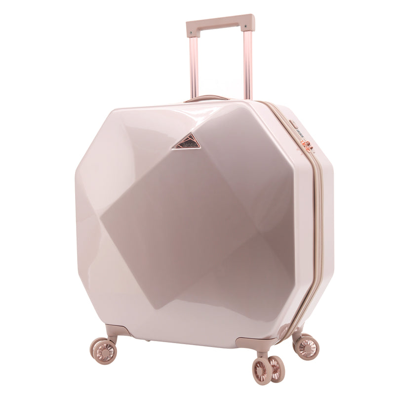 "kensie Gemstone 24"" Dual Spinner Checked Luggage"