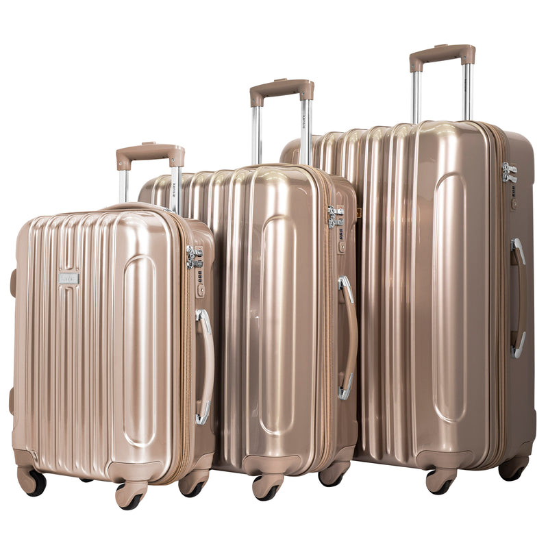 kensie 3-Piece Metallic Spinner Luggage Set