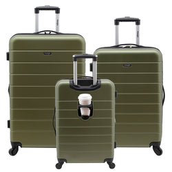 Wrangler 3-in-1 3-Piece Hardside Luggage Collection