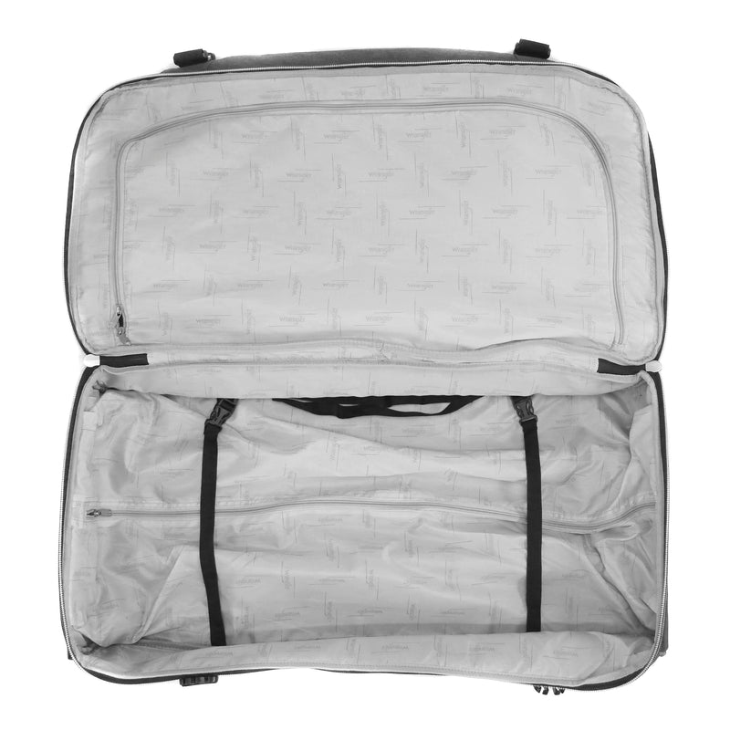 "Wrangler 30"" 2-Section Drop Bottom Rolling Duffel"