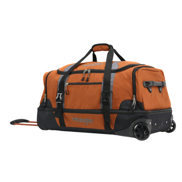 Wrangler 30 in. 2-Section Drop Bottom Rolling Duffel
