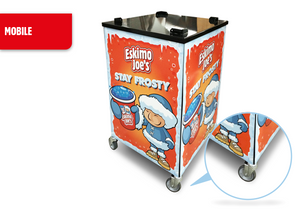 Mobile Trolley Stand For Eskimo Joe's Triple Bowl Slush Machine - Eskimo Joe's Slush United Kingdom - 6