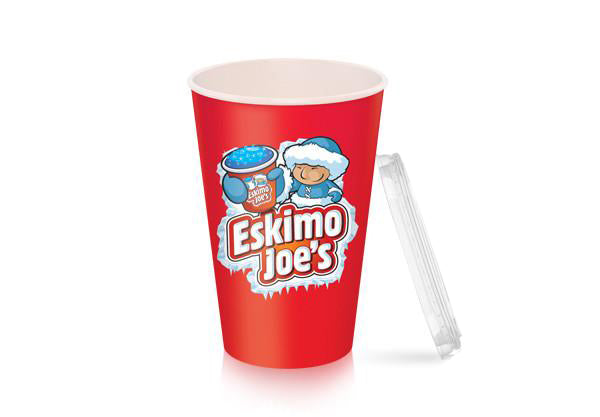 Flat Lids For Small Slush Paper Cups - 1000 Box