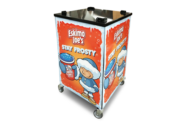 Mobile Trolley Stand For Eskimo Joe's Triple Bowl Slush Machine