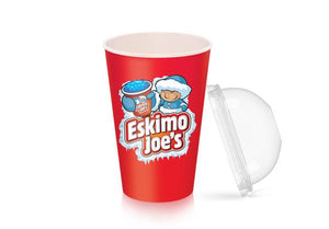 Dome Lids For Medium Slush Paper Cups - 1000 Box