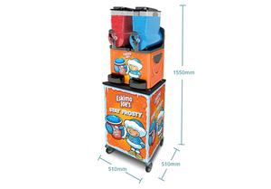 Mobile Trolley Stand For Eskimo Joe's Twin Bowl Slush Machine - Eskimo Joe's Slush United Kingdom - 7