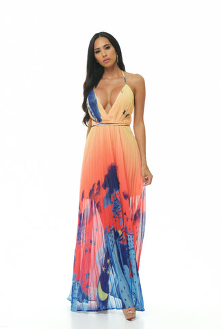 Caribbean Sunset Dress