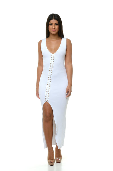 Juliana Knit Dress - White