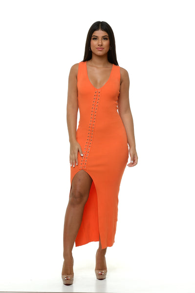 Juliana Knit Dress - Orange