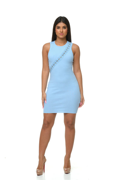 Mia Mini Dress - Blue