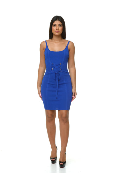 Celeste Knit Dress - Blue