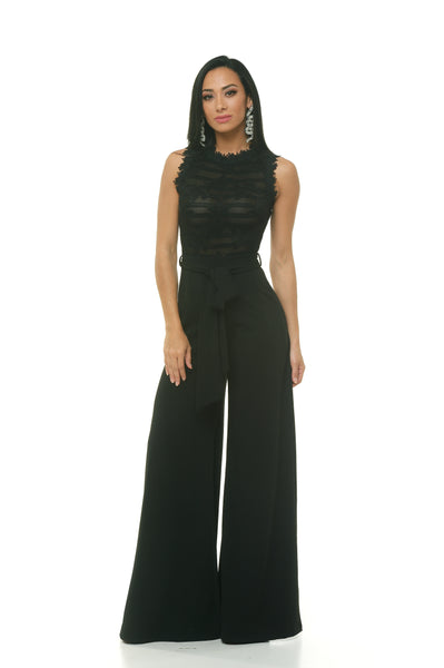Victoria Top-Mesh Jumpsuit