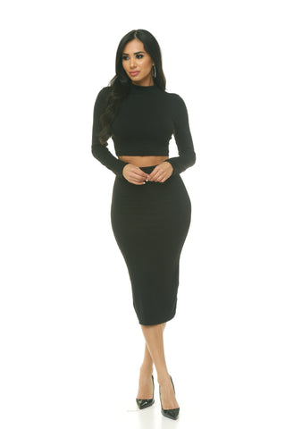 Turtleneck Long Sleeve Set