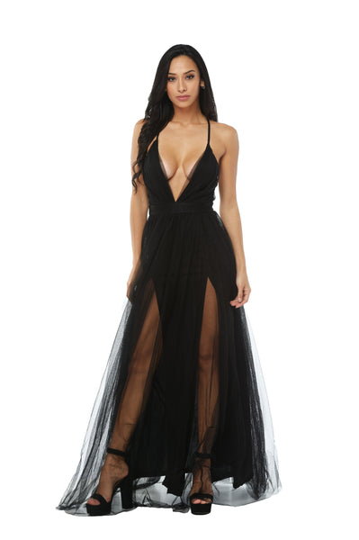 Delilah Sheer Maxi Dress
