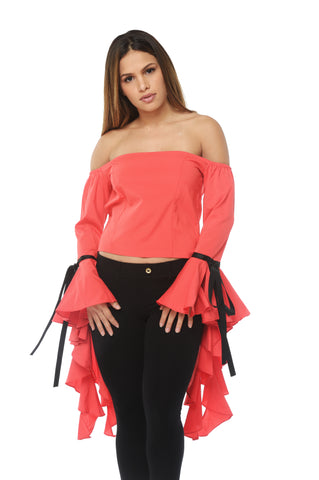 Nora Ruffle Sleeve Top