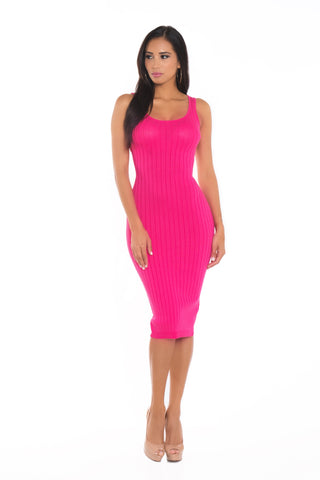 Kris Ribbed Midi Dress
