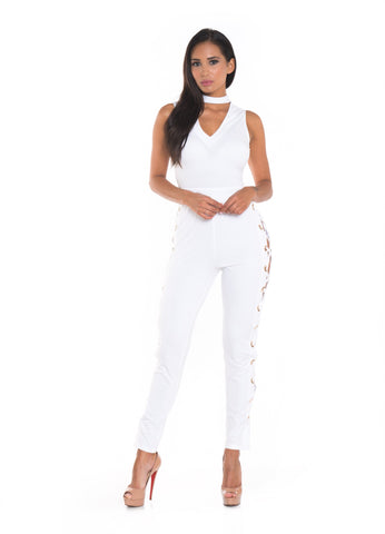 Toni Side Laced Jumpsuit