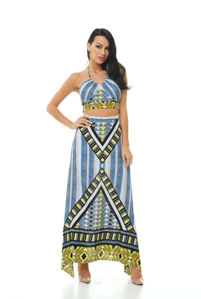 Goddess Print Skirt Set