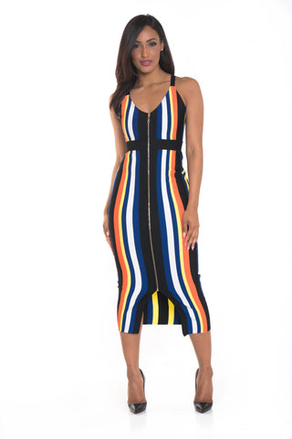 Eliza Zipper Bandage Dress