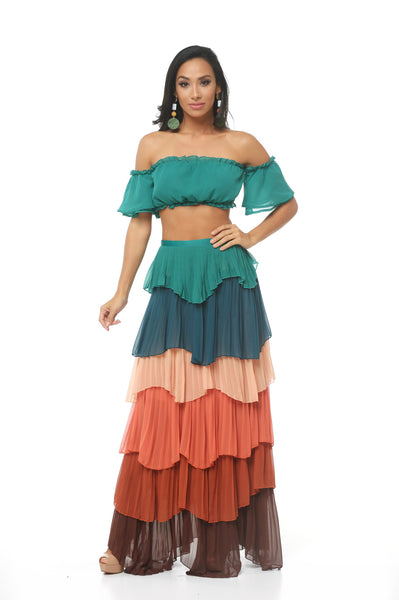 Octavia Layered Skirt Set