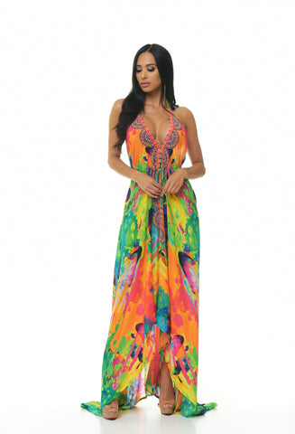 Birds of Paradise Scarf Dress