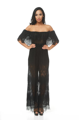 Lani Lace Off Shoulder Jumpsuit