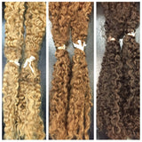 Afro Kinky- Wefted/Tracked- Auburn/Blends- Per bundle (4oz)