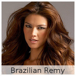 Brazilian Remy- Wefted/Tracked- Basic colors- Per bundle (4oz)