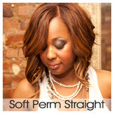 Soft Perm Straight- Wefted/Tracked- Auburns/Blends- Per bundle (4oz)