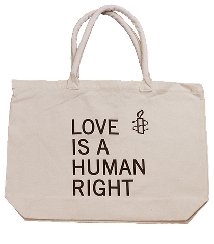 LOVE IS A HUMAN RIGHT Shopper Bag