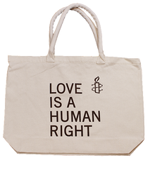 LOVE IS A HUMAN RIGHT SHOPPER