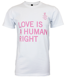 LOVE IS A HUMAN RIGHT -WHITE