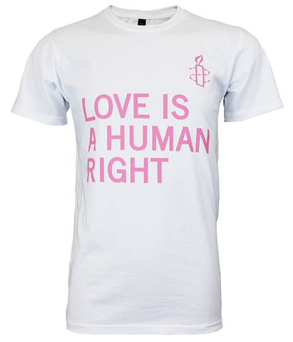 LOVE IS A HUMAN RIGHT White T-shirt