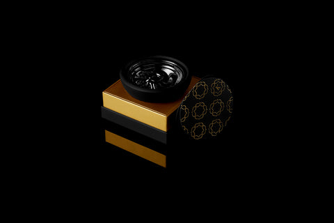 Krysalis Edition Kaloud Samsaris Lapis Black Silicone Black Ceramic Bowl for Lotus II
