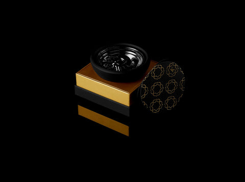 Krysalis Edition Kaloud Samsaris Lapis Black Silicone Black Ceramic Bowl for Lotus I and Lotus I+