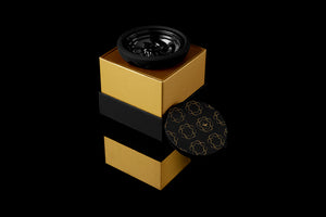 Kaloud Samsaris Lapis Black Silicone Black Ceramic Bowl for Lotus I and Lotus I+-Hookah Bowl-Kaloud